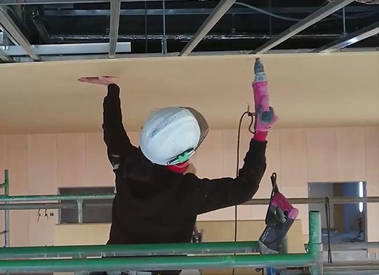 天井仕上げボード張り